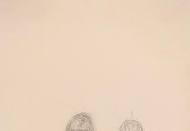 Giacometti, Trois têtes, 1960, dessin,