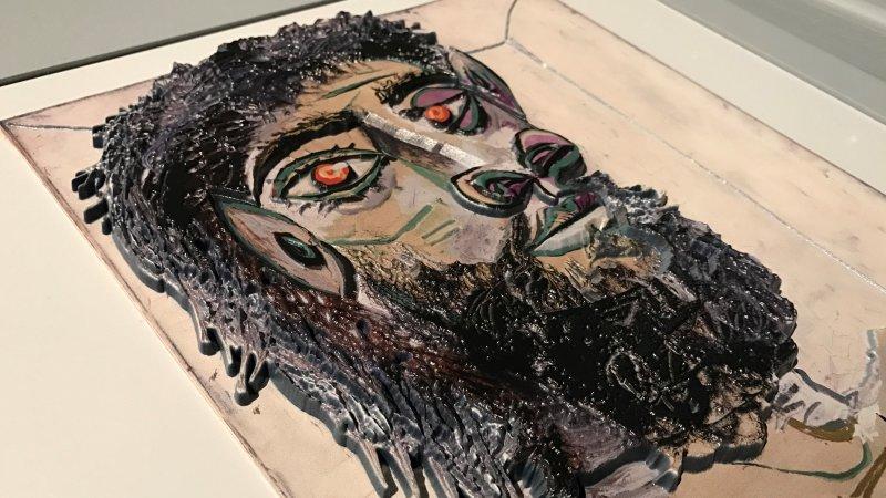 Vue de l'exposition Picasso Primitif au musee du Quai Branly