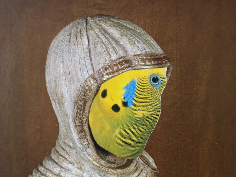 La conference des oiseaux, série de 15 collages de tailles variables, Medhi-Georges Lahlou, Galerie Rabouan Moussion