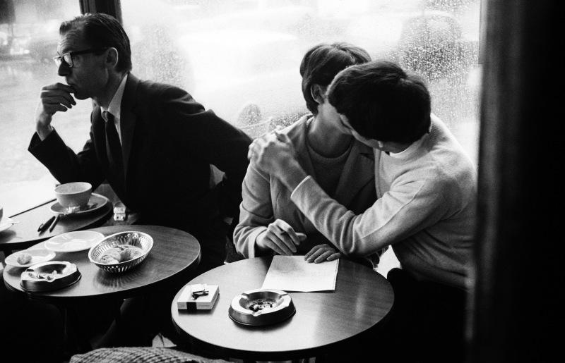 Paris, les amoureux, café de Flore, années1965