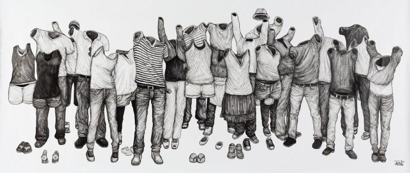 Everybody, Levalet, 2017, Galerie Brugier-Rigail
