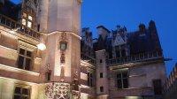 Musee de Cluny vue exterieure de nuit, nuit europeenne des musees