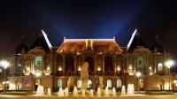 Palais des Beaux Arts Lille, vue exterieure de nuit