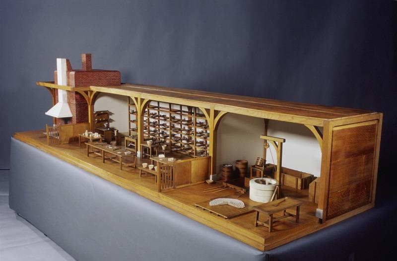 Maquette : faïencerie, 1783  Maquette de Madame de Genlis, chargée de l'éducation des enfants du duc de Chartres Étienne Calla Mécanicien Augustin Charles Perier Mécanicien constructeur
