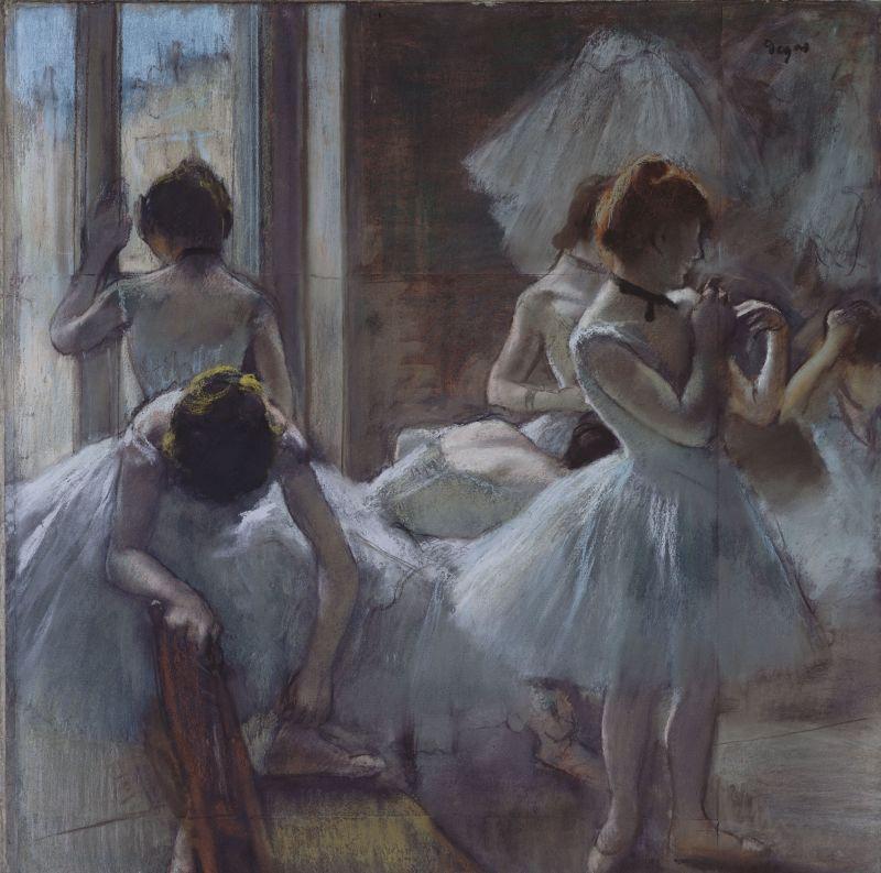 Degas, Danseuses dit aussi groupe de danseuses, vers 1884-1885, Degas Danse Dessin, Musée d'Orsay