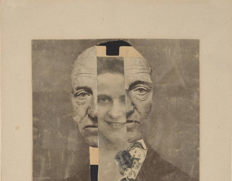 Hannah Höch (1889-1978) Portrait de Gerhard Hauptmann, 1919.