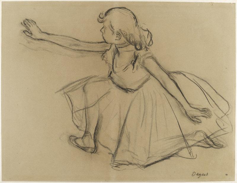 Degas Edgar (dit), Gas Hilaire-Germain Edgar de (1834-1917). Paris, musée d'Orsay, conservé au musée du Louvre. RF23241-recto.