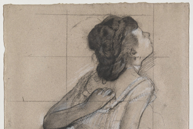 Degas Edgar (dit), Gas Hilaire-Germain Edgar de (1834-1917). Paris, musée d'Orsay, conservé au musée du Louvre. RF4645-recto.