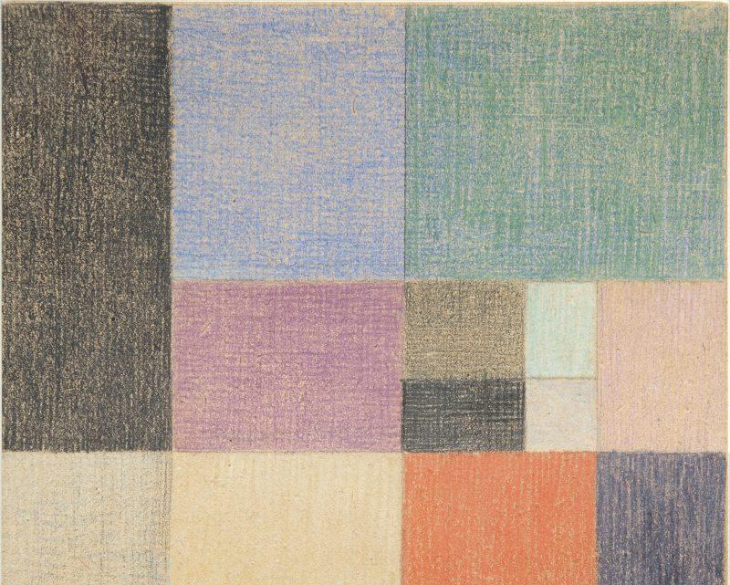 Sophie Taeuber-Arp (1889-1943) Composition verticale – horizontale, 1916