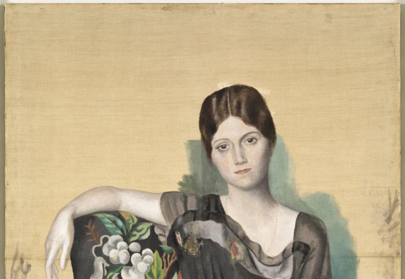 Pablo Picasso Portrait d'Olga dans un fauteuil Montrouge, printemps 1918 Huile sur toile Musée national Picasso-Paris Dation PabloPicasso,1979