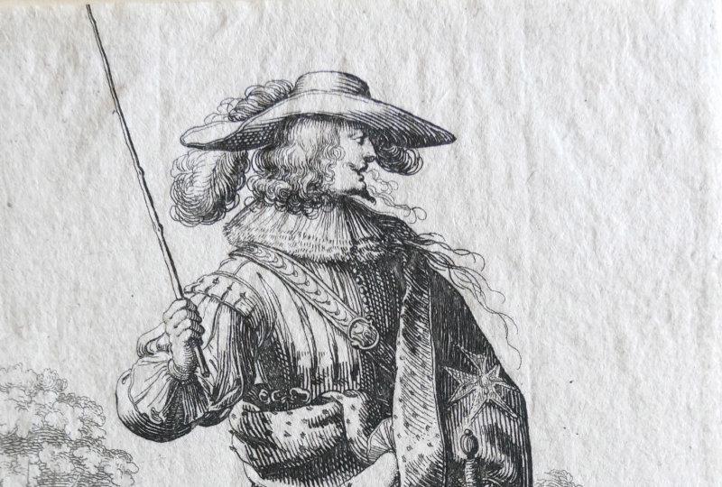 Homme de la noblesse 1629 A. Bosse Eau-forte Musée Mandet