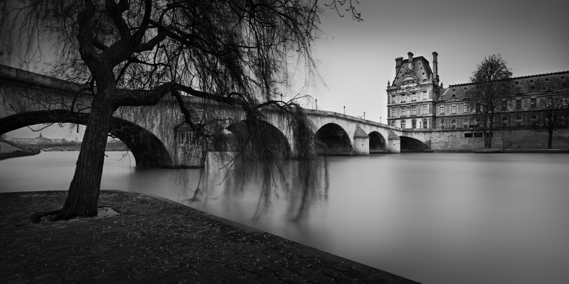 Expo Jolie Capitale - Galerie Hegoa - Thibault Roland - City of Lights - Willow, Royal Bridge and Louvre - 2015