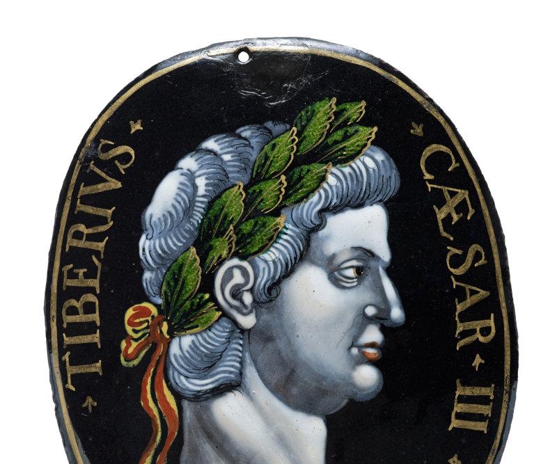 TibèreÉmaux peints sur cuivre 17es