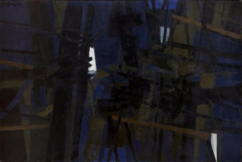 André Marfaing, 1953, Peintures et lavis, MBA Carcassonne