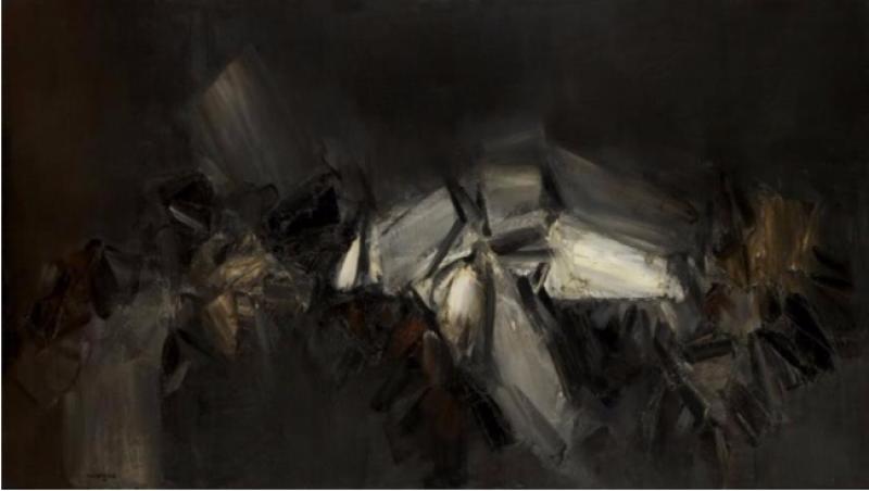 André Marfaing, 1958, Peintures et lavis, MBA Carcassonne