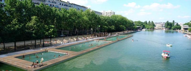 Les bassins estivaux du bassin de La Villette - Paris Plages 2017