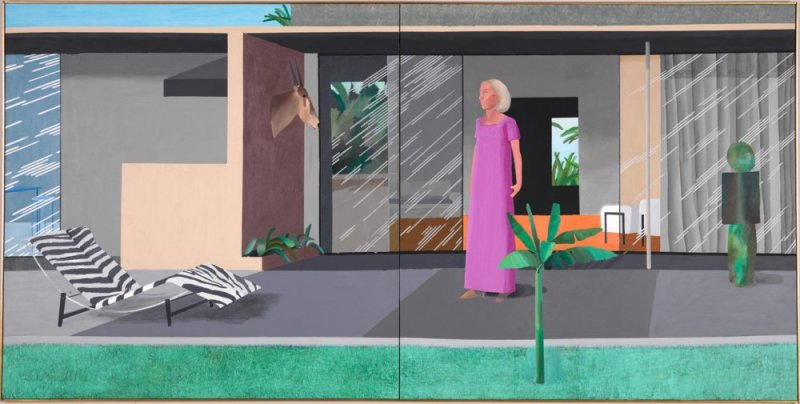 David Hockney, Beverly Hills Housewife, 1967, centre pompidou, expo in the city
