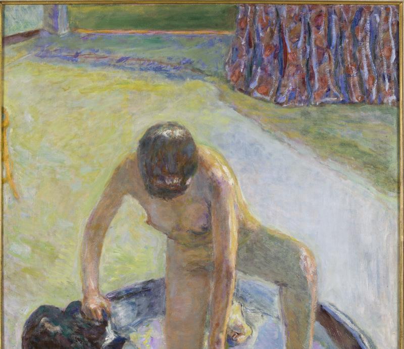 Bonnard, nu accroupi au tub, 1918 - Exposition Bonnard Vuillard au Musée Bonnard, Le Cannet