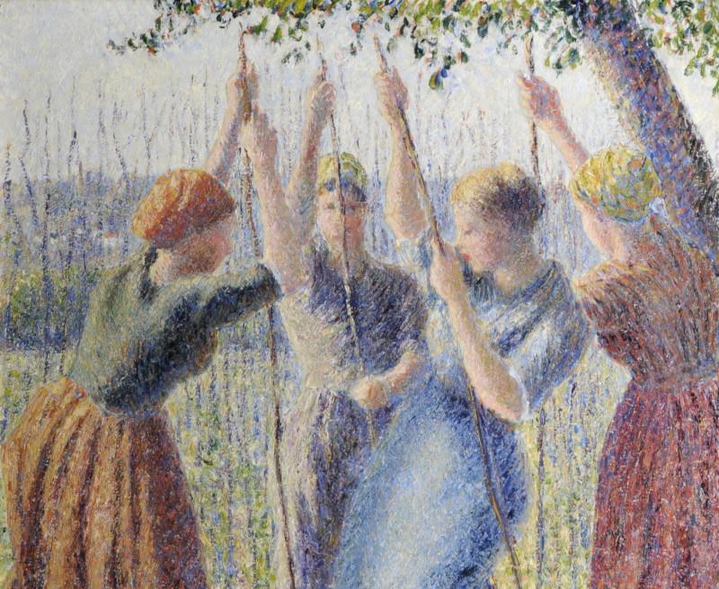 Camille Pissarro, Paysannes plantant des rames, 1891, Monet Collectionneur, Musée Marmottan-Monet