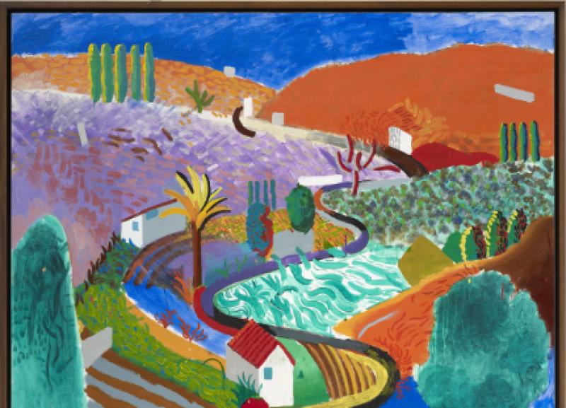 David Hockney, Nichols Canyon, 1980, centre pompidou, expo in the city