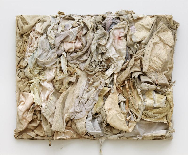 Gérard DESCHAMPS (1937 – ) Brise d'amour, 1960Peinture acrylique sur toile de bâche, sous plexiglas 100 x 170 x 10 cm Courtesy Galerie GP & N Vallois, Paris