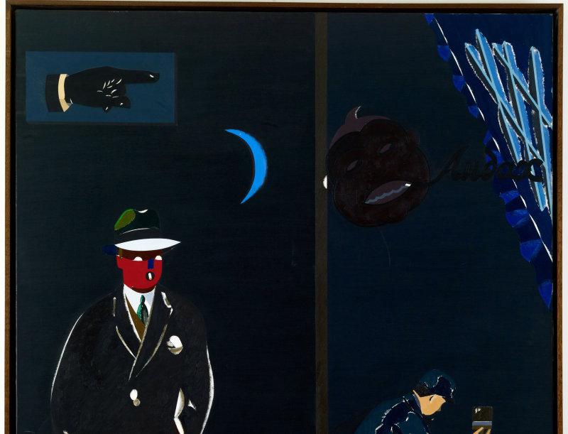 Eduardo Arroyo, Toute la ville en parle (Audax), 1982, fondation Maeght