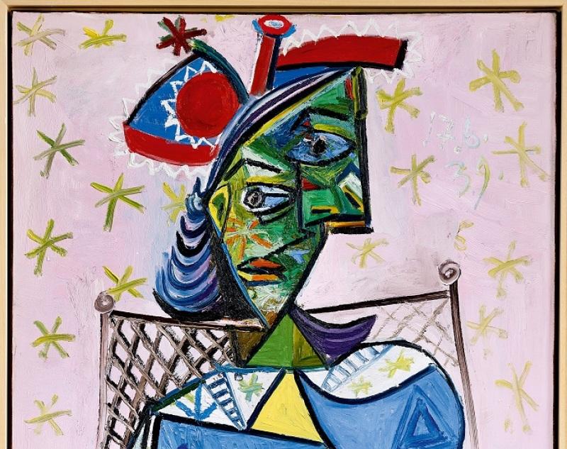 Femme au fauteuil sur fond rose, Pablo Picasso, 1939