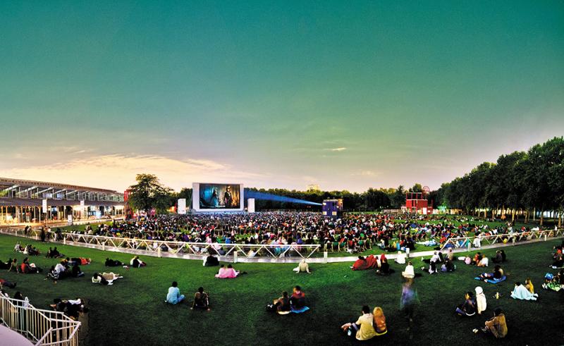 Festival cinéma plein air La Villette, par William Beaucardet, expo in the city, expo city, ciné, plein air, sortie
