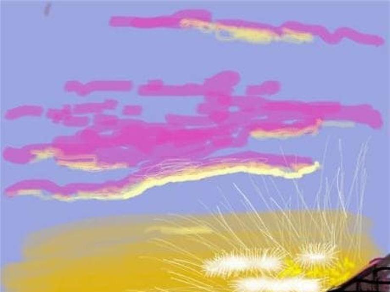 David Hockney, Landscape on iPad, expo in the city