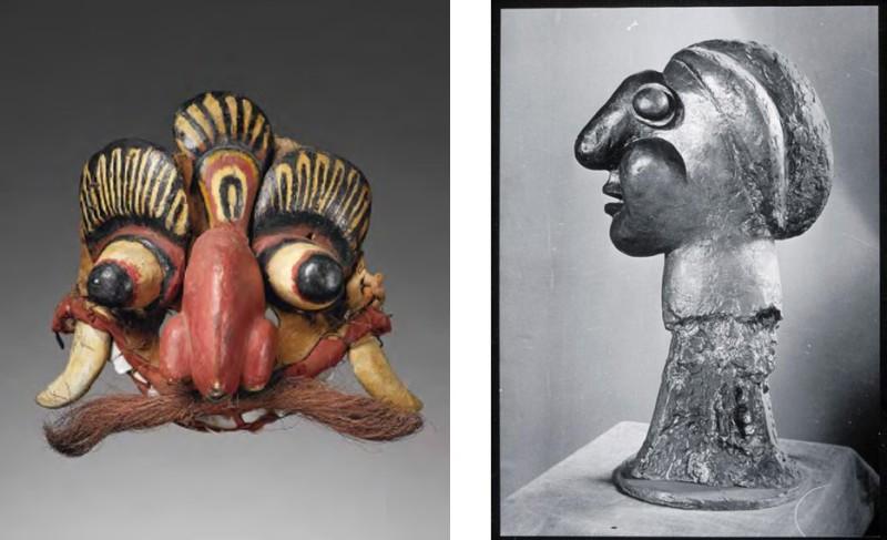 Masque d'exorcisme tovil et Fernande, Picasso Primitif, Quai Branly