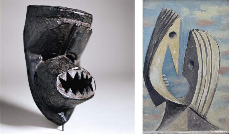 Masque ko gé et Le Baiser, Picasso Primitif, Quai Branly