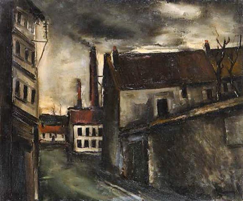 MAURICE DE VLAMINCK, CLAMART, huile sur toile, 65 x 45 cm, coll. part.