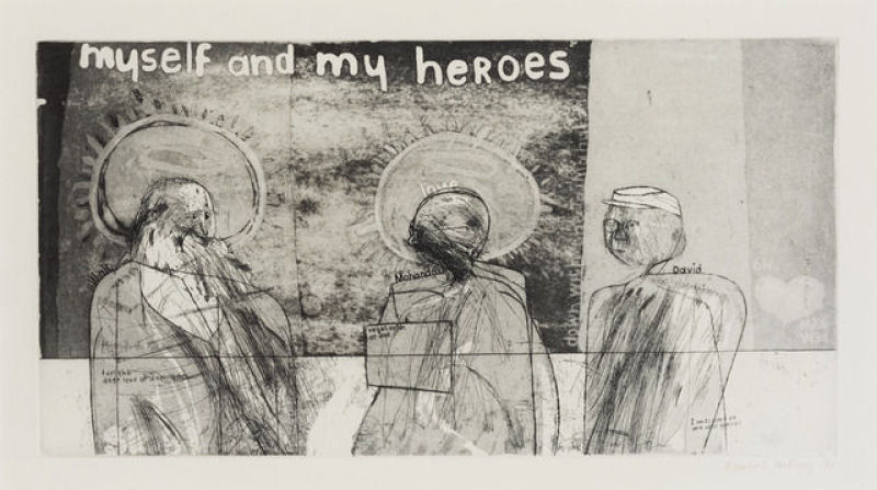 David Hockney, Myself and my heroes, 1961, centre pompidou, expo in the city