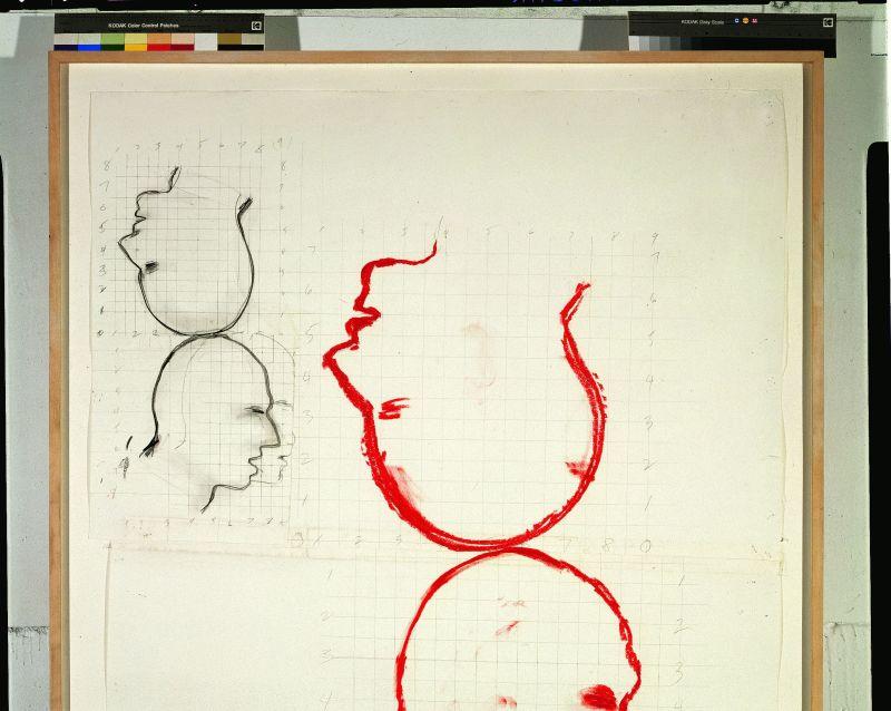 Nauman, Two Heads, Face à face, musée Fabre