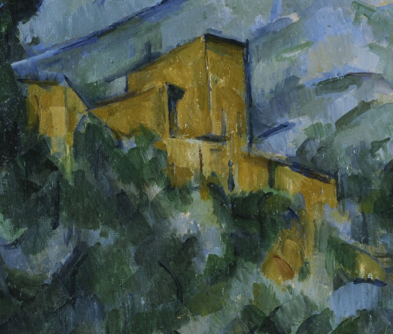 Paul Cezanne, Montagne Sainte-Victoire et Chateau Noir, Detail, vers 1904-1906