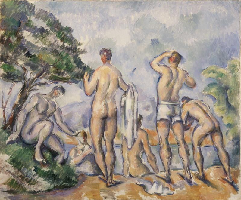 Paul Cézanne –Baigneurs –1890 -1892 Huile sur toile – 54,3 x 66 cm – Saint Louis, Saint Louis Art Museum, don de Mme Mark C. Steinberg, 2:195, Monet Collectionneur, Musée Marmottan-Monet