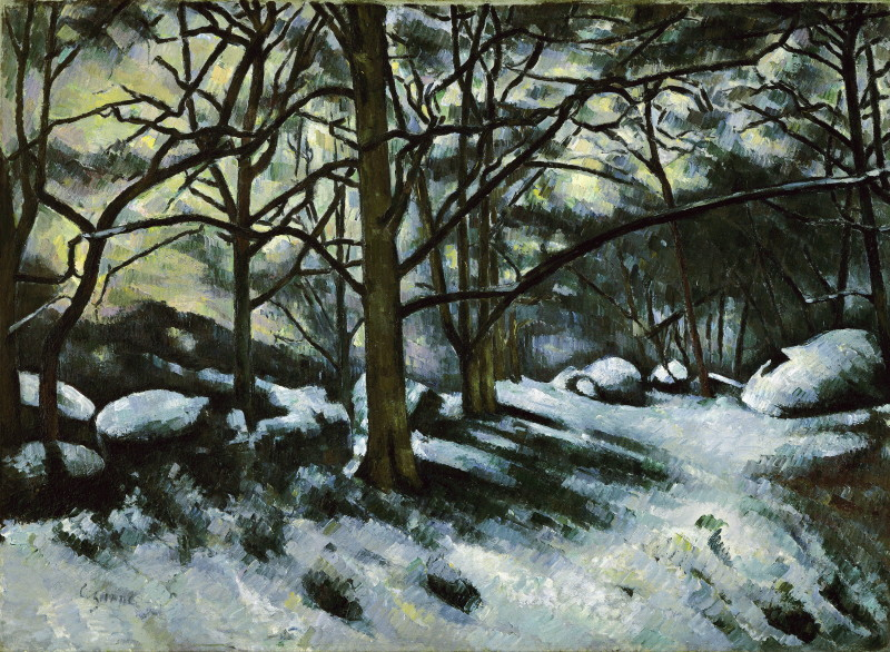 Cezanne, Paul (1839-1906): Melting Snow. Fontainebleau, 1879-80. New York, Museum of Modern Art (MoMA)*** Permission for usage must be provided in writing from Scala.