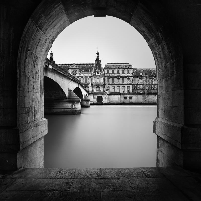 Expo Jolie Capitale - Galerie Hegoa - Roland Thibault - Royal Bridge and Louvre - 2015
