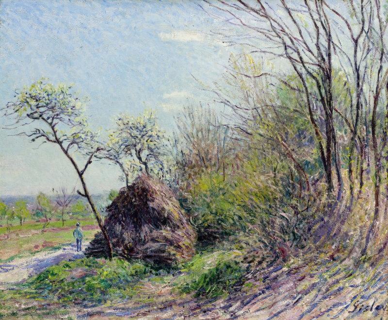 Sisley, À la lisière de la forêt – Les Sablons, 1884-1885, Hôtel Caumont