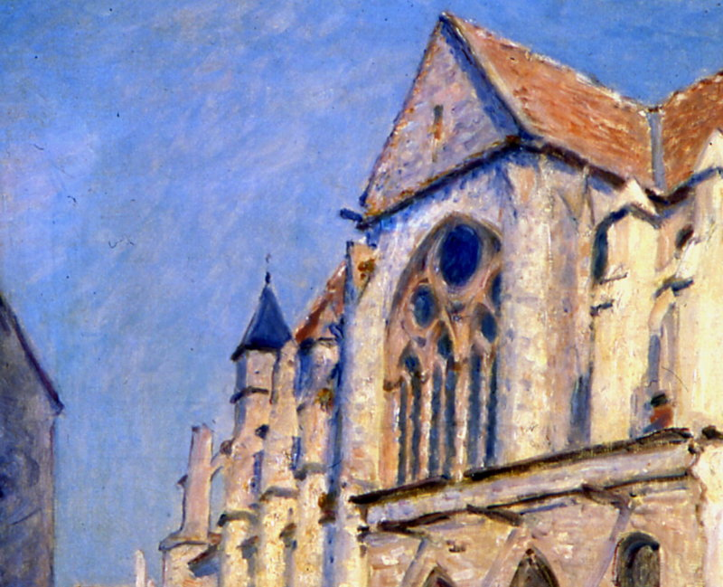 Sisley, Église à Moret, 1893, Hôtel Caumont