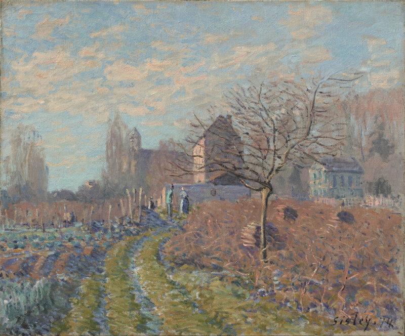Sisley, Gelée blanche - Eté de la Saint-Martin, 1874, Hôtel Caumont
