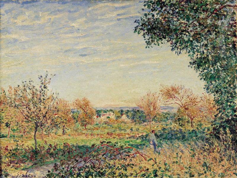 Sisley, Matinée de septembre, 1887, Hôtel Caumont