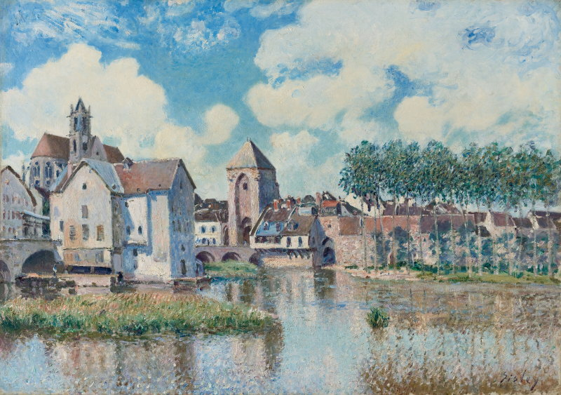 Sisley, Moret-sur-Loing (La Porte de Bourgogne), 1891, Hôtel Caumont