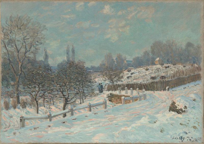 Sisley, Route de Louveciennes - effet de neige, 1874, Hôtel Caumont