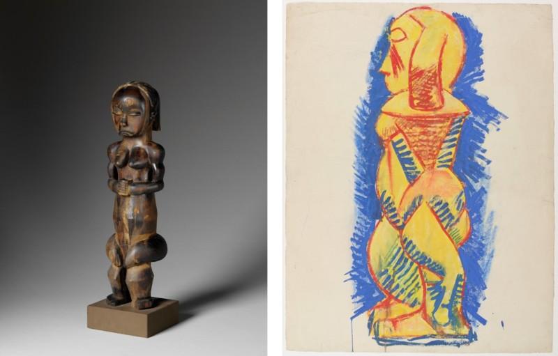 Statuette et Debout nu de profil, Picasso Primitif, Quai Branly