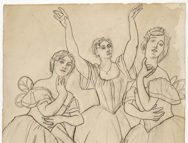 Atelier enfants, picasso, trois danseuses, 1919, musée picasso, expo in the city