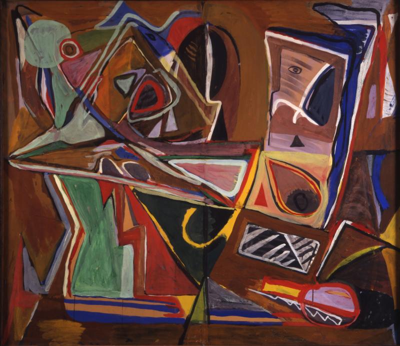 Bram VAN VELDE (1904 - 1989) Sans titre, 1940Gouache 130 x 148 cm Collection particulière