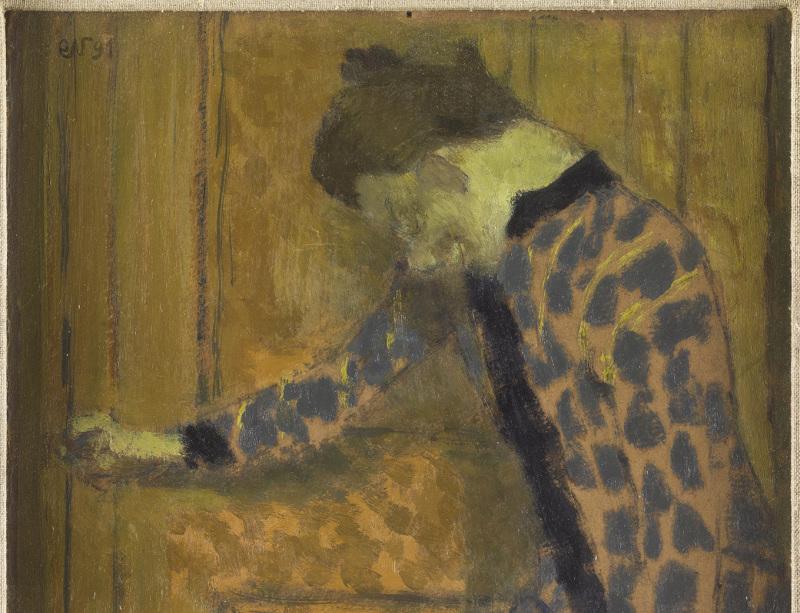 Vuillard, Jeune fille, la main sur la poignée de la porte, 1891 - Exposition Bonnard Vuillard au Musée Bonnard, Le Cannet