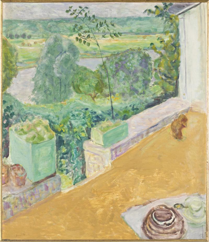 Bonnard Chien sur la terrasse, 1917, musée Bonnard