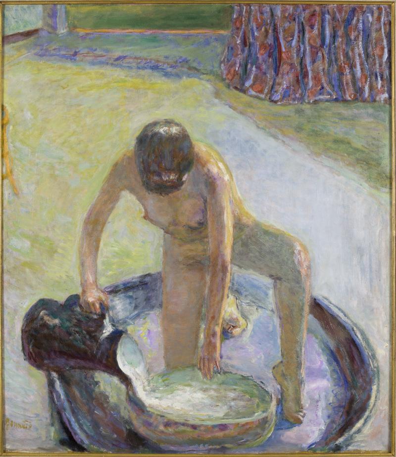 Bonnard, nu accroupi au tub, 1918, musée Bonnard
